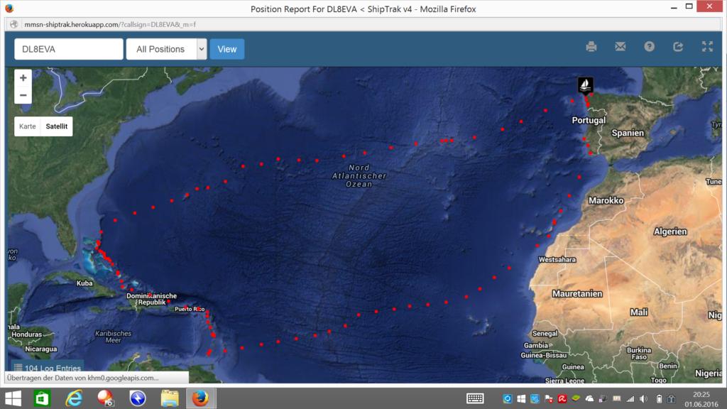 Nordatlantikrunde Venga Google Map
